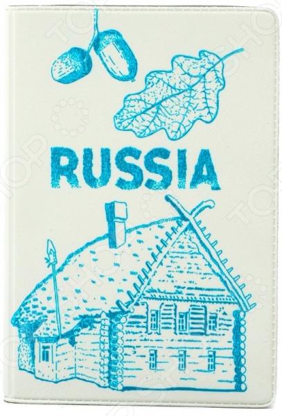 цены Обложка для паспорта кожаная Mitya Veselkov «Русская изба»