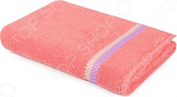 Полотенце махровое Aquarelle «Глициния». Цвет: коралловый