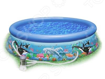 Бассейн надувной семейный с фильтр-насосом Intex Ocean Reef Easy Set цены онлайн