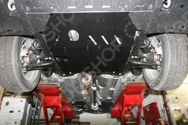 Комплект: защита картера и крепеж Novline-Autofamily Mitsubishi Outlander III 2012: 2,0/2,4/3,0 бензин АТ гидрокомпенсаторы на двигатель mitsubishi 4g63 купить