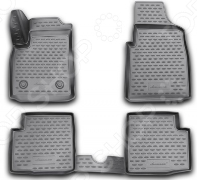 Комплект 3D ковриков в салон автомобиля Novline-Autofamily Ford Ka 2008 комплект ковриков в салон автомобиля novline autofamily ford kuga 2008