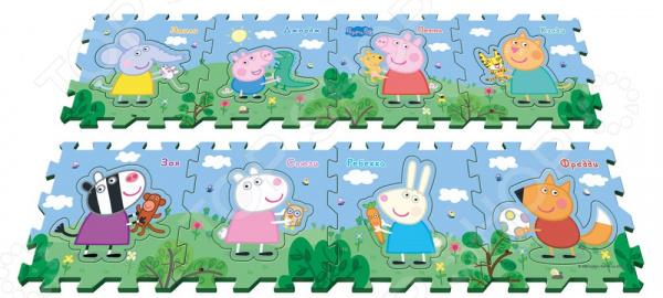 Коврик-пазл развивающий Peppa Pig «Пеппа и друзья» набор для лепки peppa pig свинка пеппа