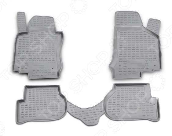 Комплект ковриков в салон автомобиля Novline-Autofamily Volkswagen Passat CC 2009 купе. Цвет: черный - фото 11