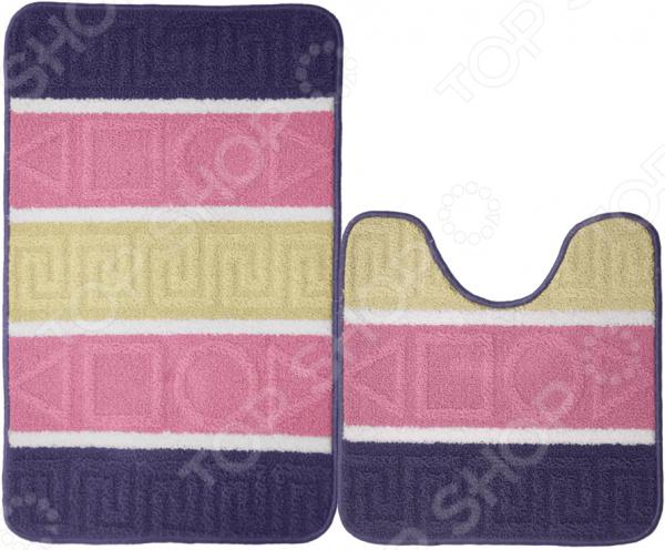 Набор ковриков для ванной комнаты Kamalak textil УКВ-1037