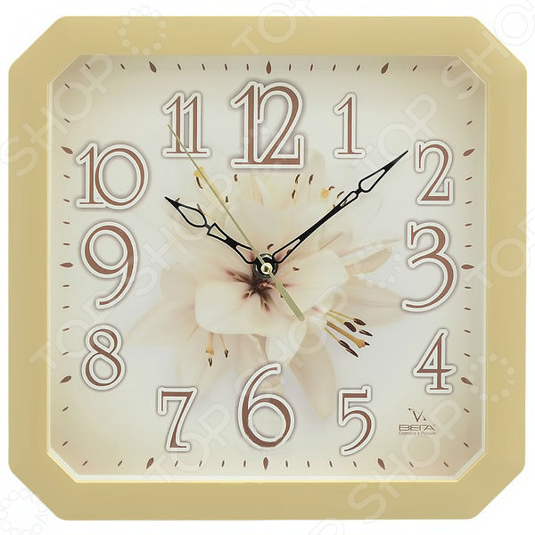 Часы настенные Вега П 4-14/7-87 «Лилия» часы настенные вега п 2 14 7 24 лилия