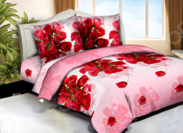 Комплект постельного белья Бояртекс «Букет любви». 1,5-спальный