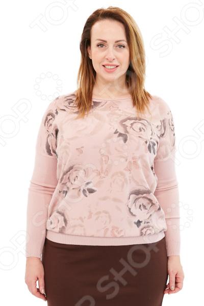 Джемпер Milana Style «Цветы». Цвет: розовый