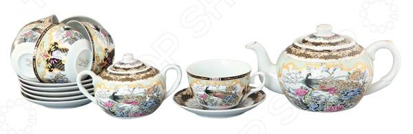 Чайный набор Elan Gallery «Павлин на золоте»