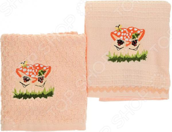 Комплект из 2-х кухонных полотенец BONITA «Дружба» ткань для полотенец оптом в москве