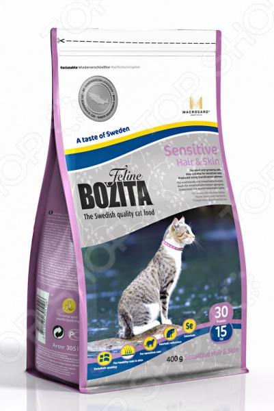 Sensitive Hair & Skin Корм сухой для кошек с чувствительной кожей Bozita Sensitive Hair & Skin