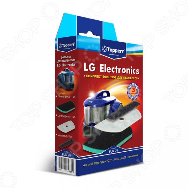 Фильтр для пылесоса Topperr FLG 70 topperr l 30 фильтр для пылесосовlg electronics 4 шт