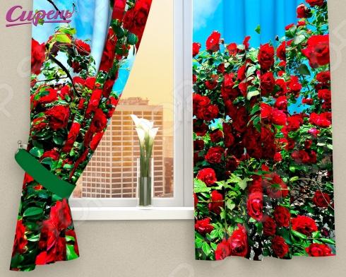 Фотошторы Сирень «Кусты роз»