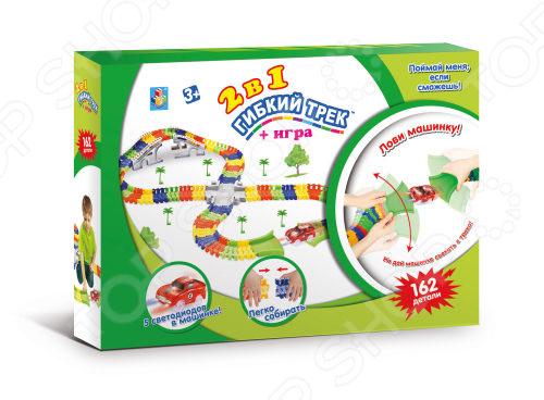 Конструктор игровой 1 Toy «Гибкий трек. Большое путешествие» Т13208 гибкий трек большое путешествие 107 деталей т59313