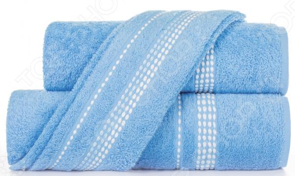 Полотенце махровое Aquarelle «Лето». Цвет: синий