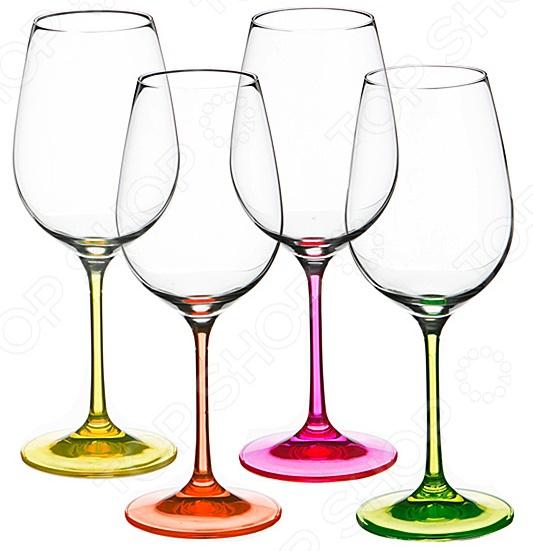 Набор бокалов для вина Bohemia Crystal Neon 674-295 набор бокалов crystalex джина б декора 6шт 210мл шампанское стекло