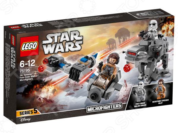 Конструктор игровой LEGO Star Wars «Бой пехотинцев Первого Ордена против спидера на лыжах» lego education 9689 простые механизмы