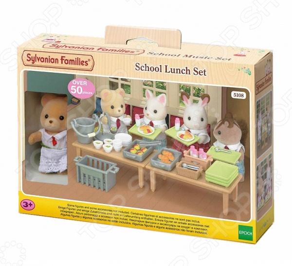 Набор игрушек-зверюшек Sylvanian Families 5108 «Школьный обед»