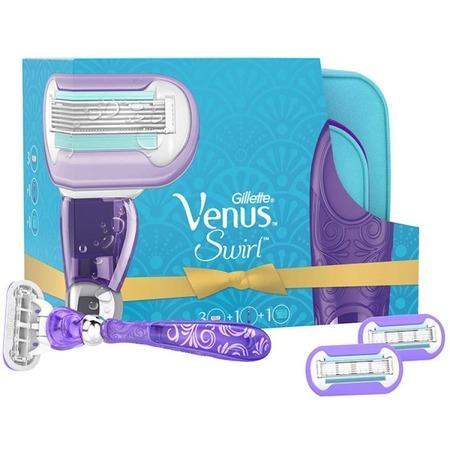 Купить Бритва Gillette Venus Swirl со сменными кассетами и косметичкой