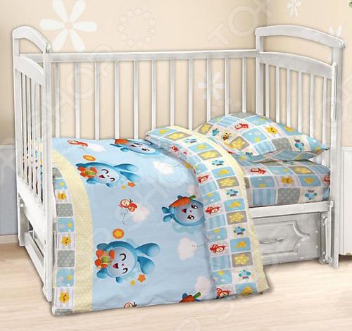 Ясельный комплект постельного белья Непоседа «Крош» Непоседа - артикул: 1320989
