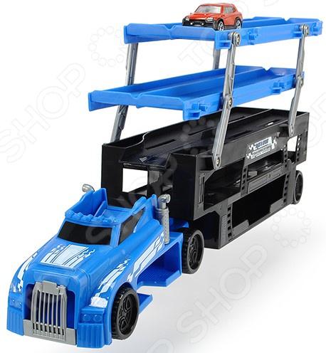Набор машинок игрушечных Dickie «Автовоз 5 уровней»