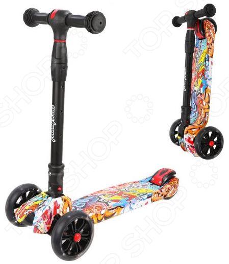 Самокат трехколесный Moby Kids «Гигант» 641276 самокат 3 х колесный moby kids управление наклоном синий 64966