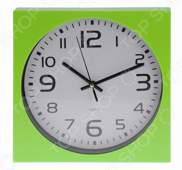 Часы настенные Mitya Veselkov «Арабские цифры в зеленой оправе» часы настенные mitya veselkov old town repairs