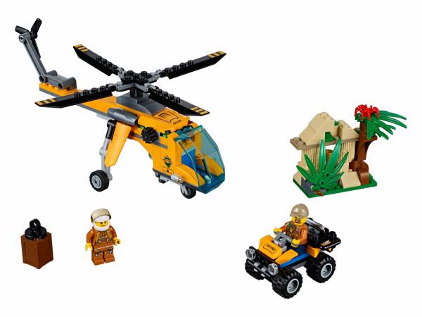 Конструктор игрушечный LEGO City «Грузовой вертолёт исследователей джунглей» конструкторы lego lego грузовой вертолёт исследователей джунглей city jungle explorer 60158