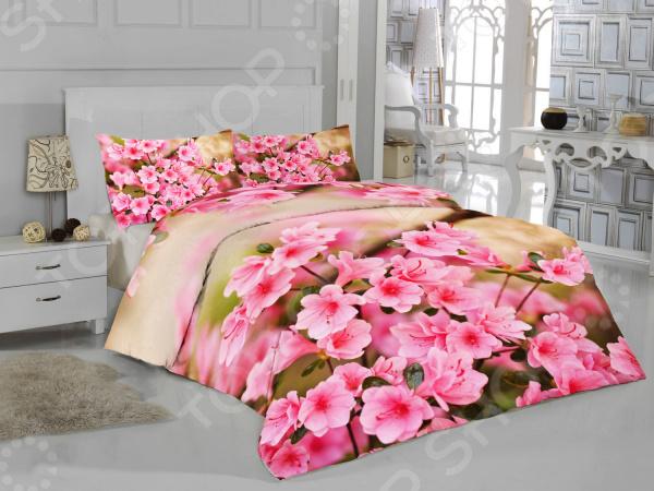 цена Комплект постельного белья ТамиТекс «Весенние цветы» онлайн в 2017 году