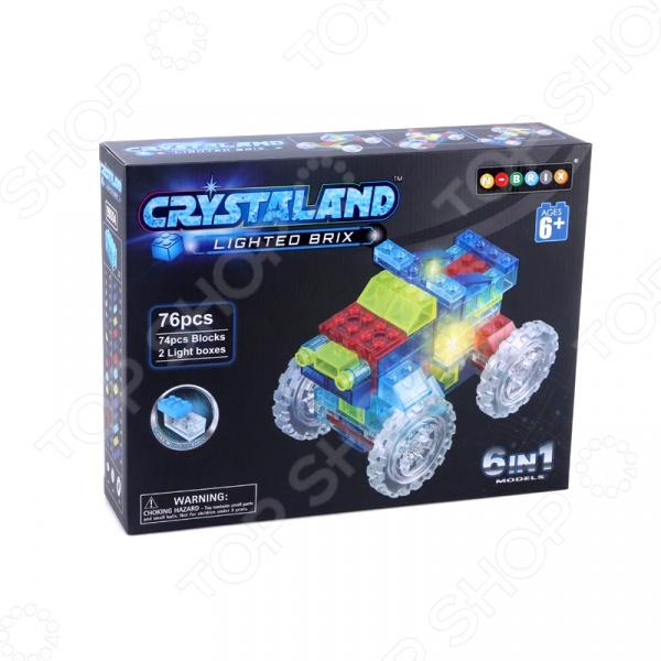 Конструктор со световыми эффектами N-BRIX Crystaland «Трактор 6 в 1» crystaland конструктор истребитель 6 в 1