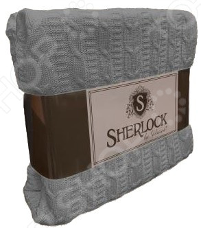 Плед вязаный Unison Sherlock. Цвет: серый unison