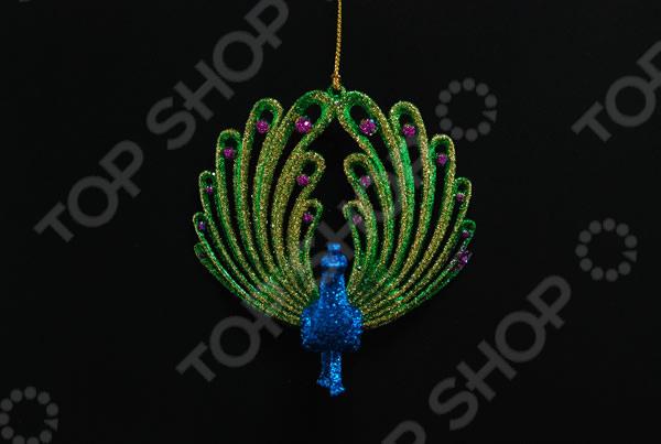 Новогоднее украшение Crystal Deco «Павлин» праздничное украшение новогоднего стола