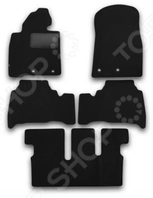 Комплект ковриков в салон автомобиля Klever Toyota Land Cruiser 200 2012 Premium