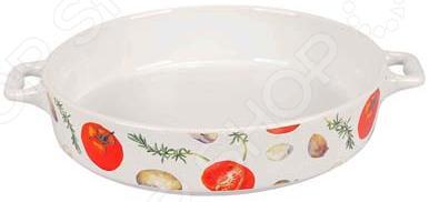 Форма для выпечки керамическая Едим Дома «Прованс». Диаметр: 20 см форма для выпечки стеклянная едим дома pv5
