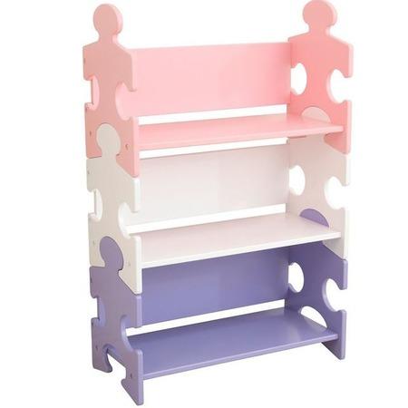 Купить Стеллаж детский KidKraft Puzzle Bookshelf Pastel