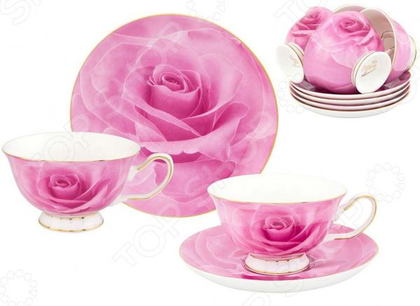 Чайный сервиз Elan Gallery «Розовая роза»