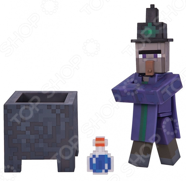 Набор фигурок игрушечных Minecraft «Ведьма» фигурки игрушки mattel games набор из 3х фигурок персонажей minecraft minecraft