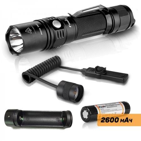 Купить Набор тактический Fenix: фонарь PD35 TAC, аккумулятор ARB-L2, зарядное устройство ARE-X1, кнопка AER-02