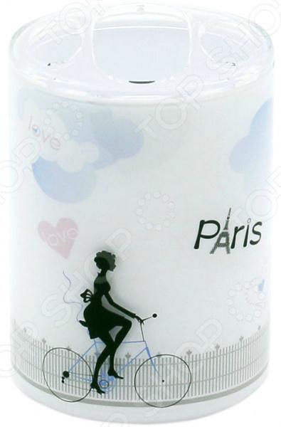 Стакан для зубных щеток Tatkraft Paris Mademoiselle Acryl 3D