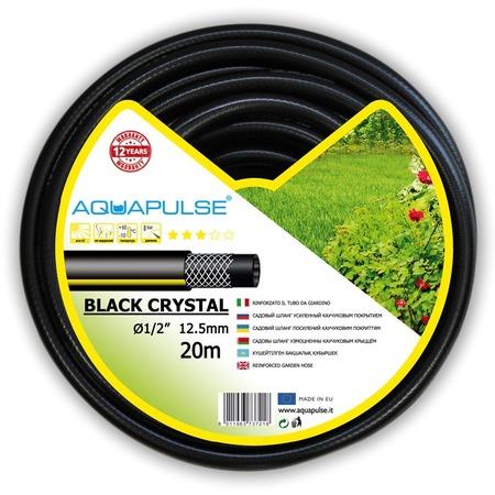 Купить Шланг поливочный армированный Aquapulse Crystal. Цвет: черный