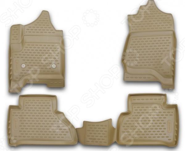 Комплект 3D ковриков в салон автомобиля Element Cadillac Escalade, 2015
