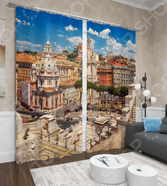 Фотошторы Сирень «Город в Венеции»