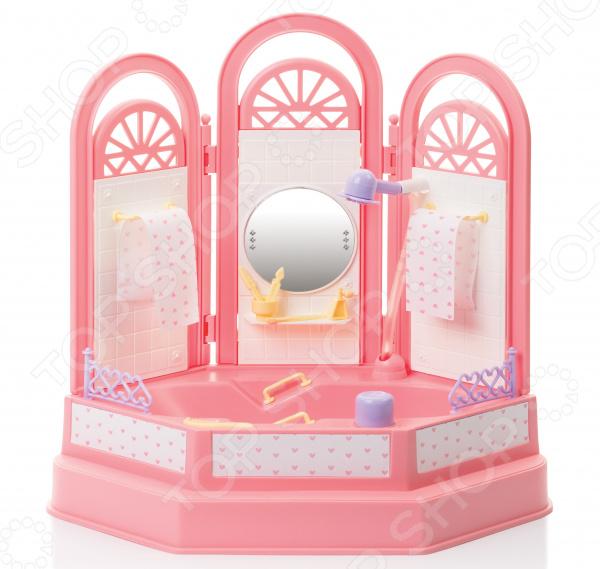 Ванная комната для куклы Огонек «Маленькая принцесса»