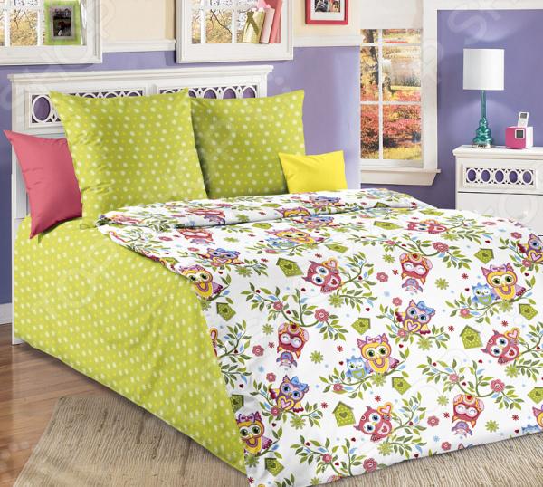 Детский комплект постельного белья Бамбино «Совята»