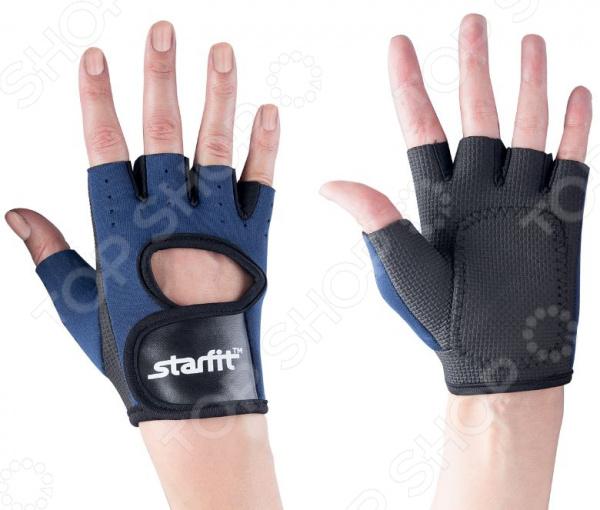 Перчатки для фитнеса Star Fit SU-107. Цвет: темно-синий, черный Star Fit - артикул: 1563993