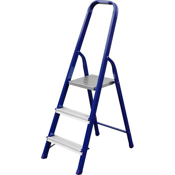 фото Лестница-стремянка Сибин 38803. Высота верхней ступени: 60 см. Количество ступеней: 3