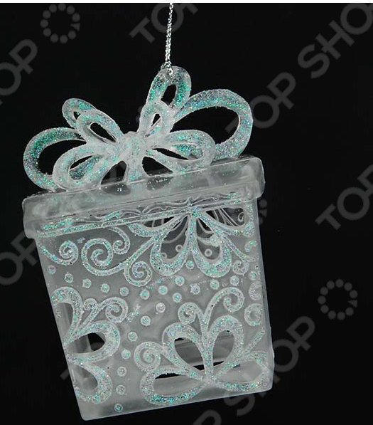 Новогоднее украшение Crystal Deco «Подарочная коробка» новогоднее украшение crystal deco шар перламутровый