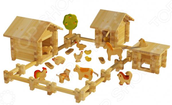 Конструктор деревянный Лесовичок «Солнечная ферма №3» лесовичок les 013 солнечная ферма 2 набор из 180 деталей