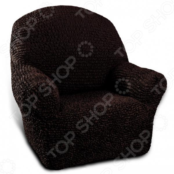 Натяжной чехол на кресло Еврочехол Еврочехол «Микрофибра. Черный шоколад»