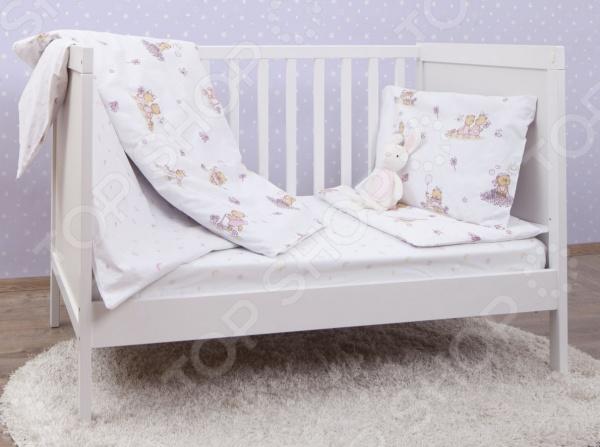 Ясельный комплект постельного белья MIRAROSSI Bambine pink
