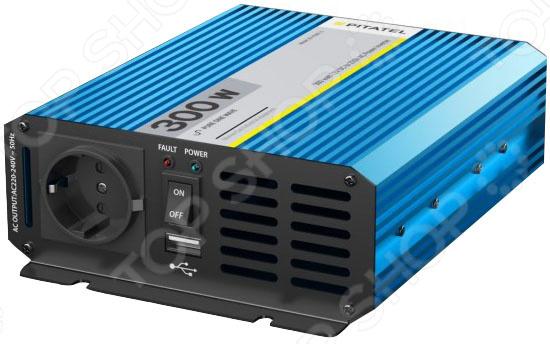Инвертор автомобильный Pitatel KV-P300U.24 автоинвертор pitatel kv m300u 24
